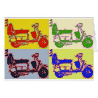 POP ART SCOOTER CARD
