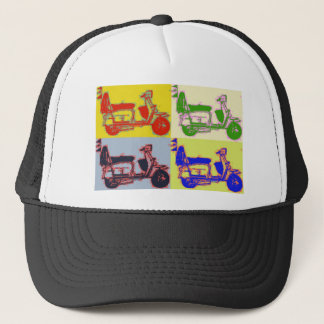 POP ART SCOOTER TRUCKER HAT