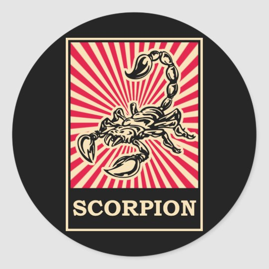 Pop Art Scorpion Classic Round Sticker