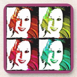 Pop Art Self Portrait Coasters