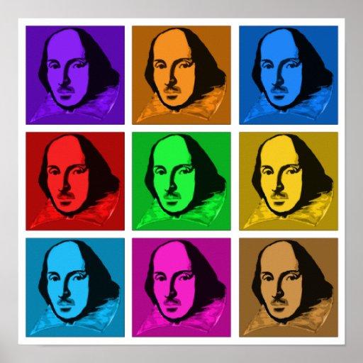 Pop Art Shakespeare Poster
