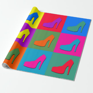 Pop art shoes wrapping paper