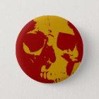 Pop Art Skull 6 Cm Round Badge