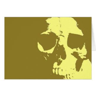 Pop Art Skull Card