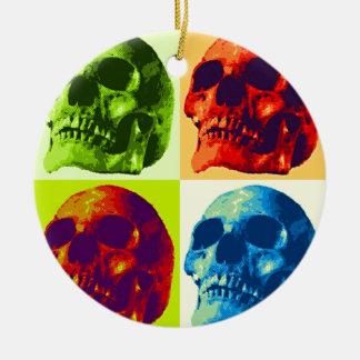 Pop Art Skull Christmas Ornaments