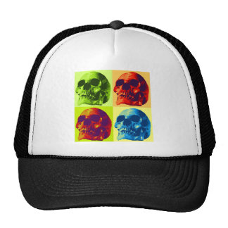 Pop Art Skull Trucker Hats