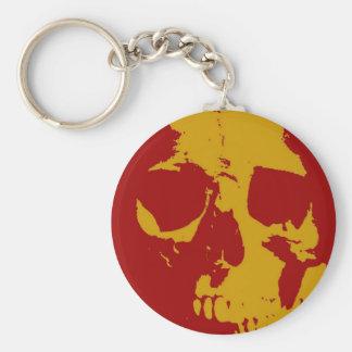 Pop Art Skull Key Chain