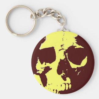 Pop Art Skull Keychain