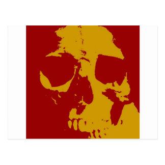 Pop Art Skull Post Card