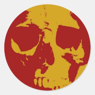 Pop Art Skull Round Sticker