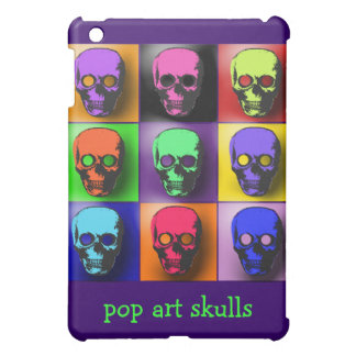 Pop Art Skulls iPad Case with Custom Text