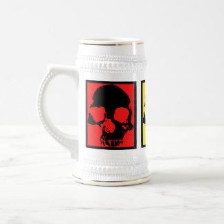 Pop art skulls retro beer stein beer steins