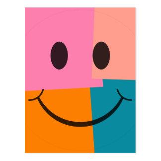 Pop Art Smiley Face Postcard