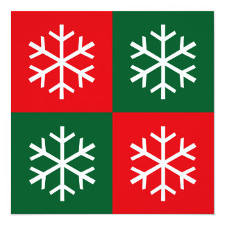 Pop Art Snowflakes * 13 Cm X 13 Cm Square Invitation Card
