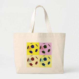 Pop Art Soccer Balls Canvas Bags