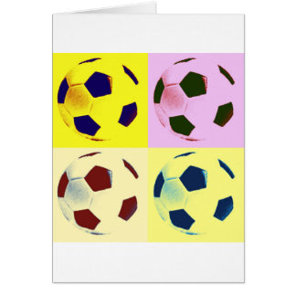 Pop Art Soccer Balls Card