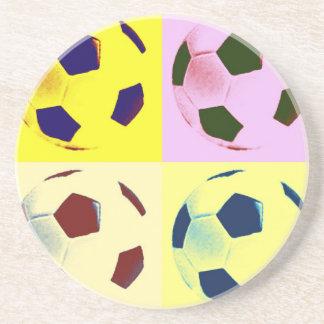 Pop Art Soccer Balls Drink Coasters