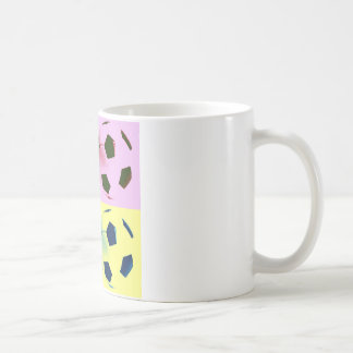 Pop Art Soccer Balls Coffee Mug