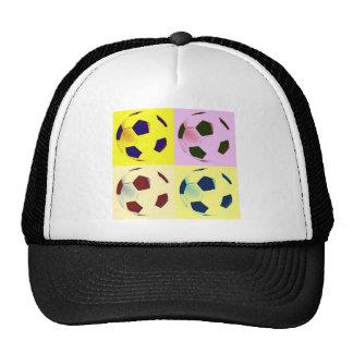 Pop Art Soccer Balls Trucker Hats