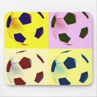 Pop Art Soccer Balls Mousepad