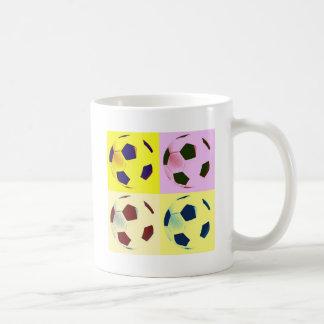 Pop Art Soccer Balls Coffee Mugs
