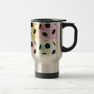 Pop Art Soccer Balls Coffee Mug