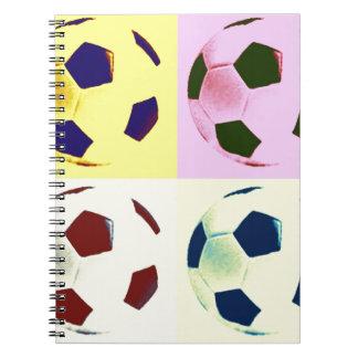Pop Art Soccer Balls Note Books