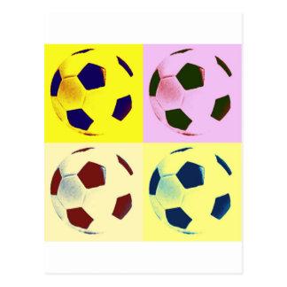 Pop Art Soccer Balls Post Card