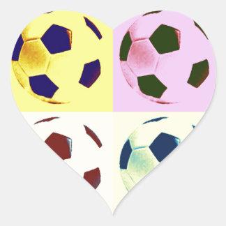 Pop Art Soccer Balls Heart Sticker