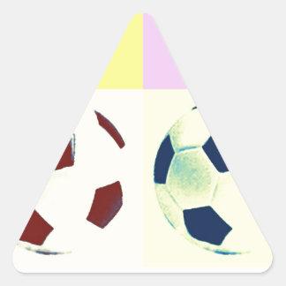 Pop Art Soccer Balls Triangle Stickers