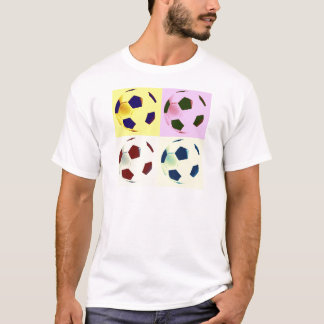 Pop Art Soccer Balls T-Shirt