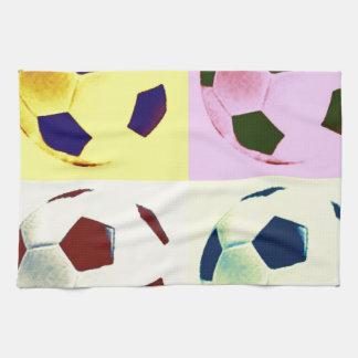 Pop Art Soccer Balls Towels