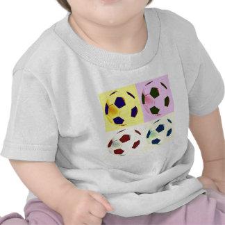 Pop Art Soccer Balls Tee Shirt