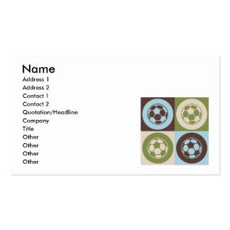 Pop Art Soccer Business Card Template