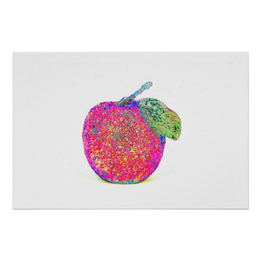 Pop Art Sparkling Apple Poster