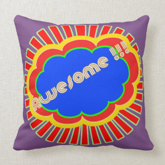 Pop art speech bubble cushion