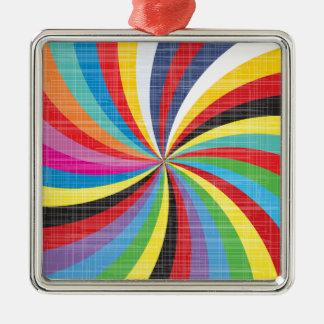 Pop Art Spiral Christmas Ornament