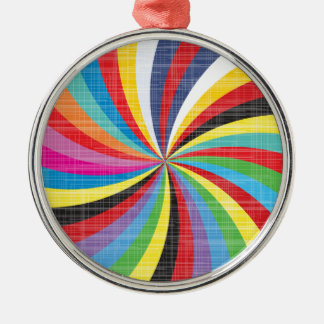 Pop Art Spiral Christmas Ornament