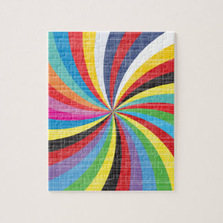 Pop Art Spiral Jigsaw Puzzle