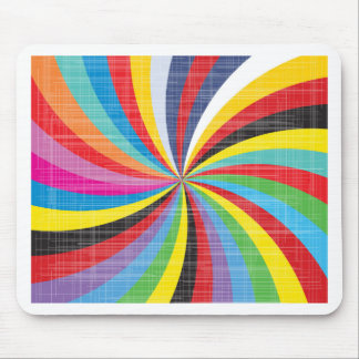 Pop Art Spiral Mouse Mat