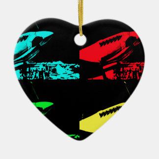 Pop Art Spitfire Ceramic Heart Decoration