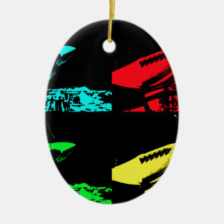 Pop Art Spitfire Christmas Ornament