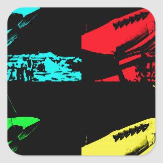 Pop Art Spitfire Square Sticker