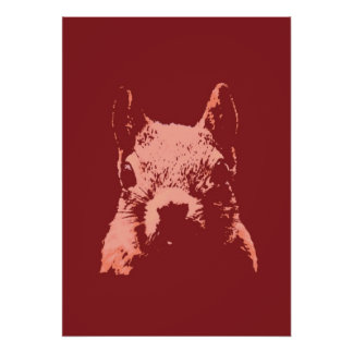 Pop Art Squirrel Poster