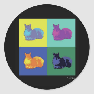 Pop Art Squirrel Stickers