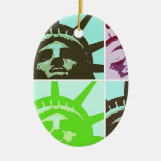 Pop Art Statue of Liberty Close Up Ornaments