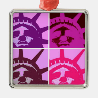Pop Art Statue of Liberty Christmas Tree Ornament