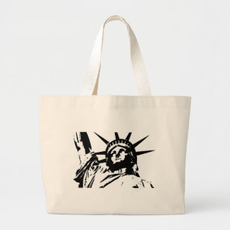 Pop Art Statue of Liberty Large Tote Bag