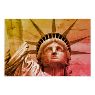 Pop Art Statue of Liberty New York Poster