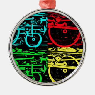 pop art steam christmas ornament